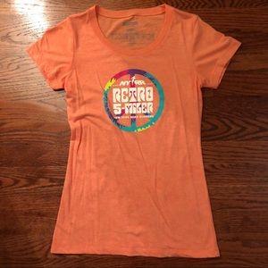 Orange Women's New Balance Athletic Shirt